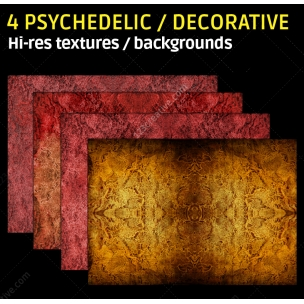 4 Psychedelic textures (high resolution)