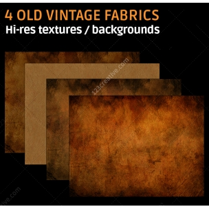 4 Old vintage fabric textures (high resolution)