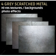 4 Grey scratched metal textures (high resolution)