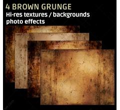4 Brown grunge textures (high resolution)