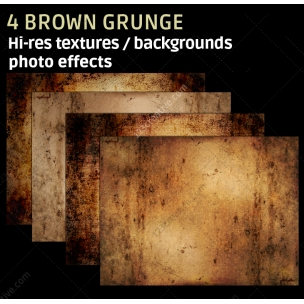 4 Brown grunge textures (high resolution)