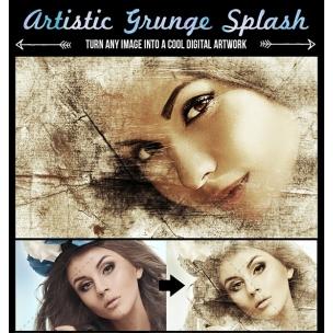 Grunge Image Splash - Photoshop Photo Effect