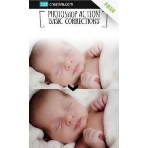 FREE Basic corrections - Photoshop action