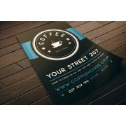 cafe flyer template, restaurant flyer template, cafe restaurant flyer template psd