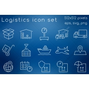logistics icon set, logistics icon, shipping icons, logistics process icons, shipping services icon