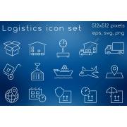 logistics icon set, logistics icon, shipping icons, logistics process icons, shipping services icon