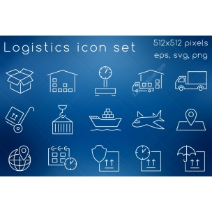 15 Logistics icon set
