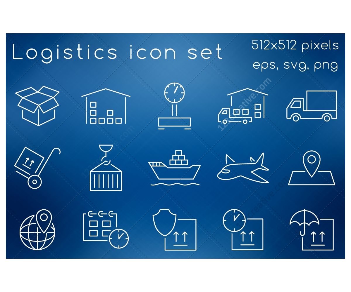 Design Squad Website >> Logistics icon set - buy icons. Logistics process icons, shipping services icon, logistics ...