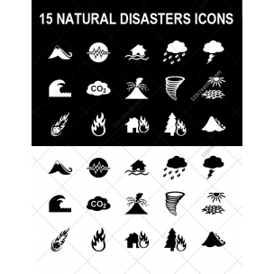 15 Natural disasters icons