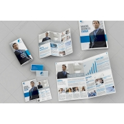 Professional printable layout templates, corporate identity templates, Bifold Brochure template