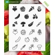 Vegetables icons free download, vegetables icon pack free, Flat vegetables icons vector free
