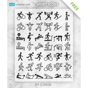 FREE Sport icons silhouettes for download
