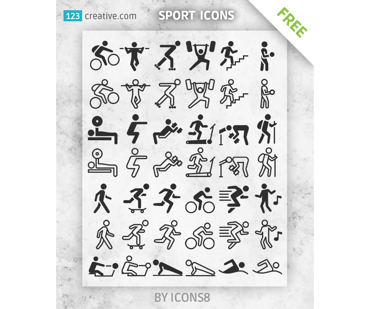 Free Sport icons silhouettes for download - free sport icon pack