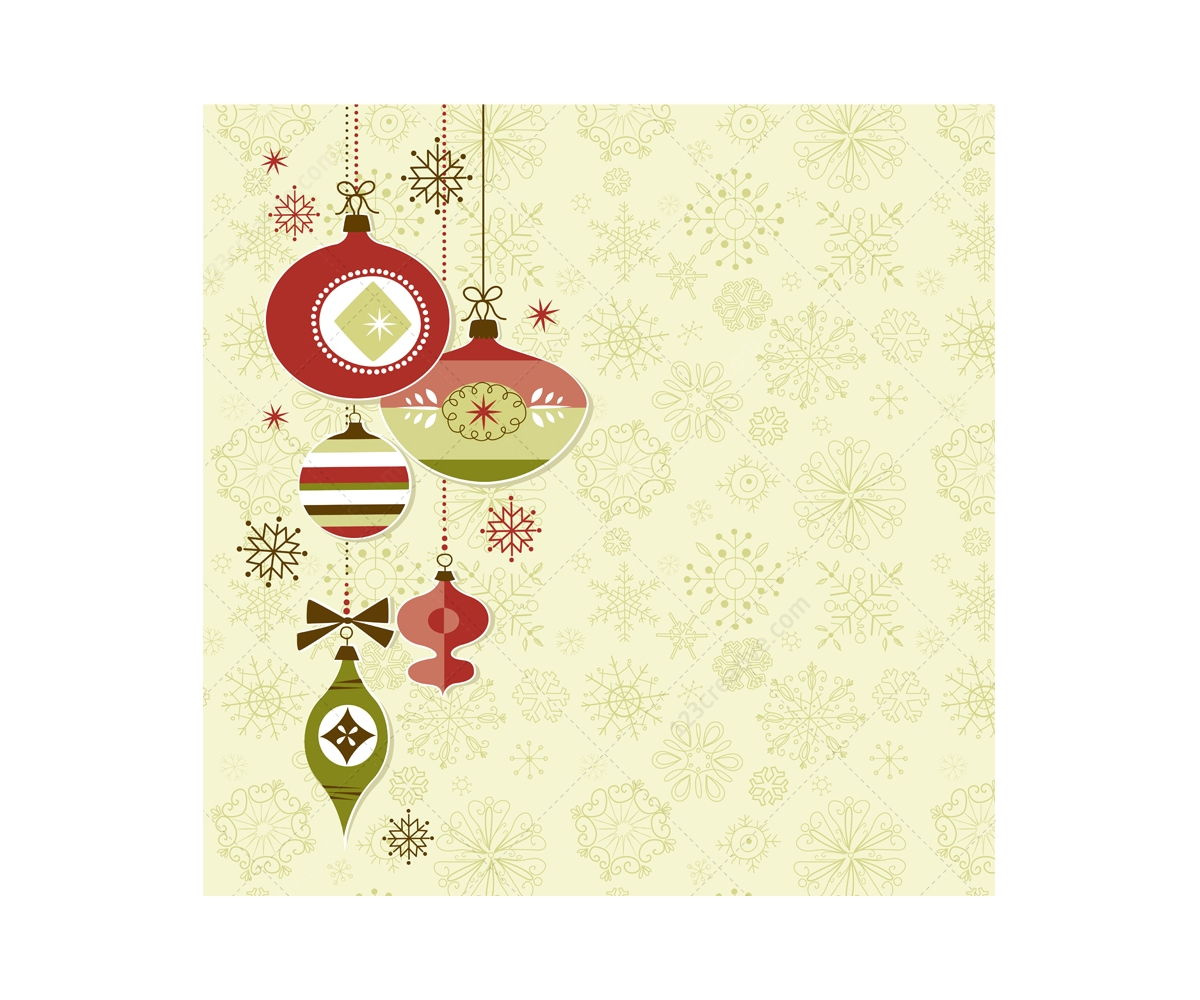 4 Retro Christmas card vector illustrations - 123creative.com