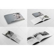 Trend brochure template, modern brochure layout