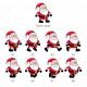 Cute Santa Claus character vectors