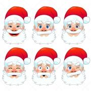 Santa Claus face vectors