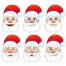 Santa Claus face vectors