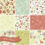 Retro Christmas pattern vectors