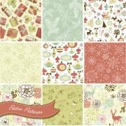 Retro Christmas pattern vectors