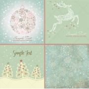 4 Beautiful Christmas vector illustrations