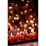 Christmas candles card background, Christmas candles stock photo