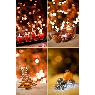 4 Vintage Christmas card backgrounds