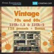 Vintage 70s and 80s presets for Z3ta+ 1.5 & Z3ta 2