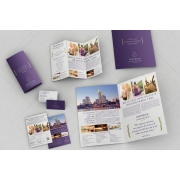 Violet Print templates bundle: Bifold Brochure, Trifold Brochure, Flyer, Business Card - Stationery 03