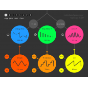 Multiband processor plugin for MAC, Audio Unit effect plug-in, MAC multiband processor plugin