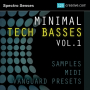 Minimal techno Bass Samples, Bass Midi files, Bass presets for Vanguard synthesizer