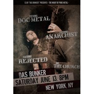 Rock music event flyer template design