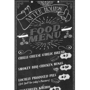 retro chalkboard menu template, restaurant menu template, chalboard restaurant menu psd
