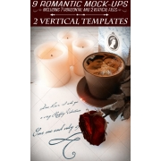 9 Vintage Wedding, Romantic, Valentine's day Mock-ups