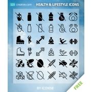 free lifestyle icons, free health icons, lifestyle icons for download, health icons for download