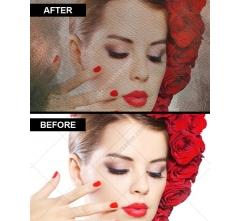 Vintage watercolor overlay effect maker