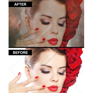 Vintage watercolor overlay effect maker