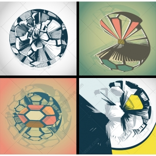 4 Abstract futuristic vector graphics