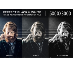 Perfect Black and White effect in Photoshop