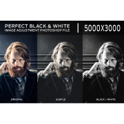 black and white effect in Photoshop, convert a color image to black and white in Photoshop