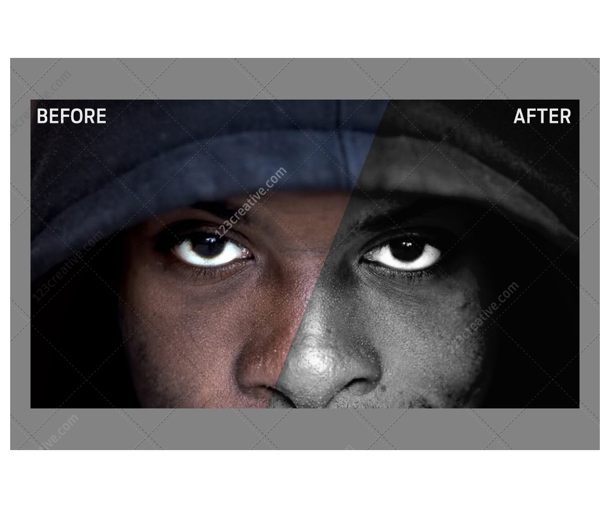 20 Free Black & White Photo Effect Actions for Adobe Photoshop