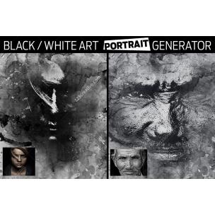 Black & White Art Portrait Generator in Photoshop