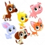 cute farm animal vectors, farm baby animal vector, young farm animal vectors