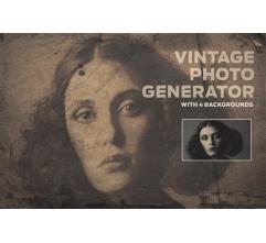Vintage Photo Generator in Photoshop