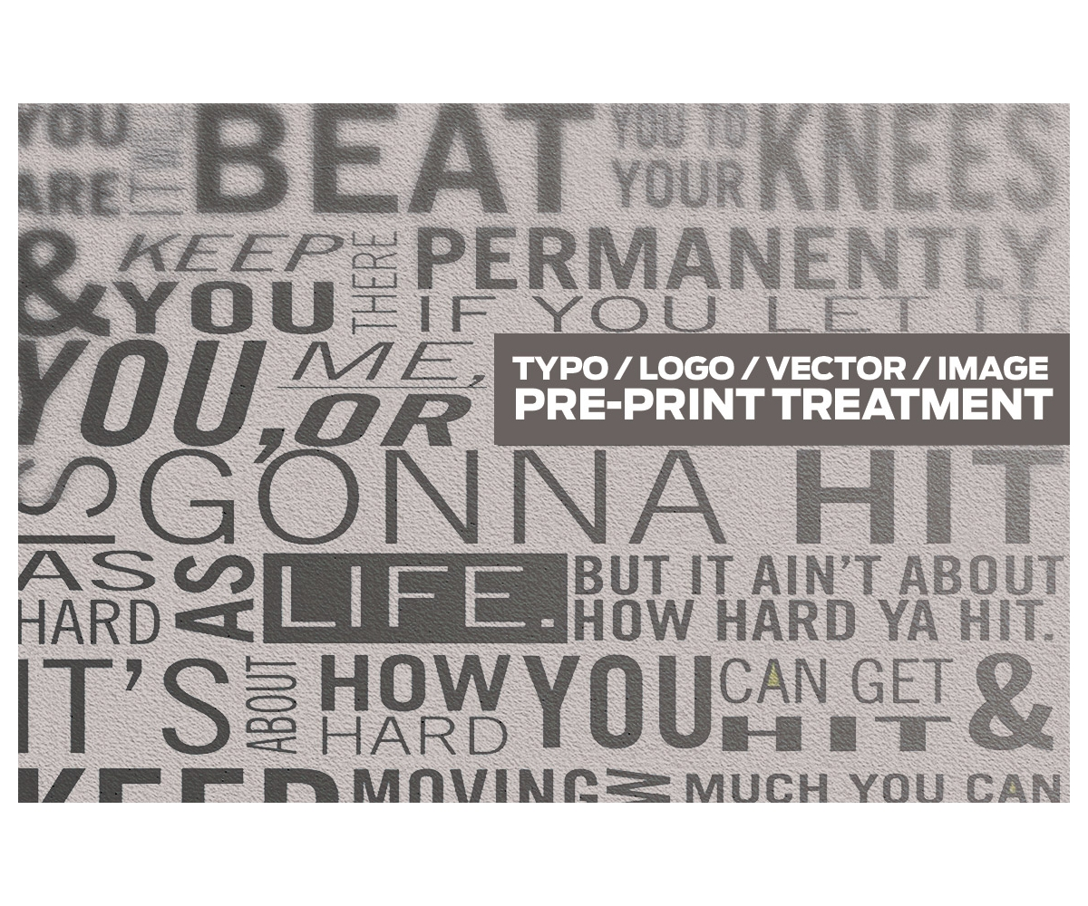 Photoshop poster design effect - treatment before printing