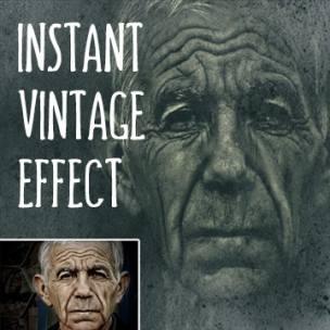 Instant Vintage Image Effect - Photoshop Template
