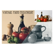 vintage photo effects, vintage looks generator in Photoshop