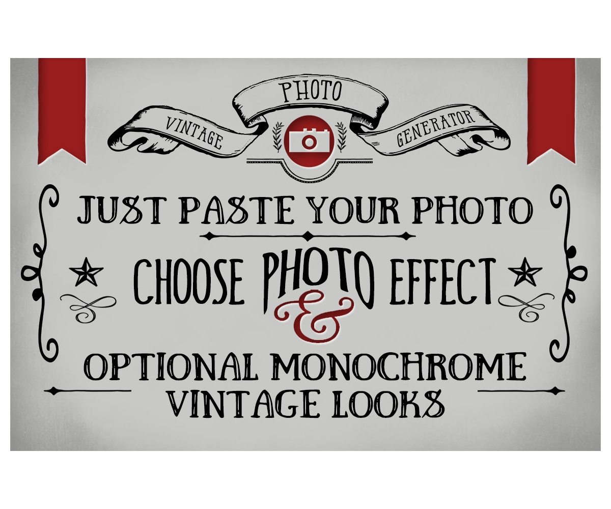 Vintage Photo Effects Vintage Looks Generator In Photoshop Black And White Effect In