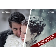 Animated snow GIF in Photoshop - add snow animation to photo