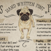 Pugzley - font family